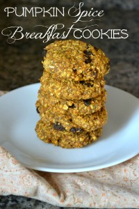 Pumpkin Spice Breakfast Cookies