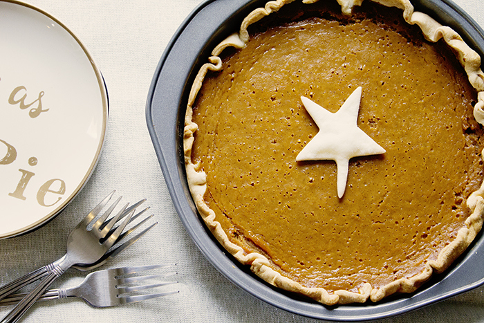 spicy egg nog pumpkin pie