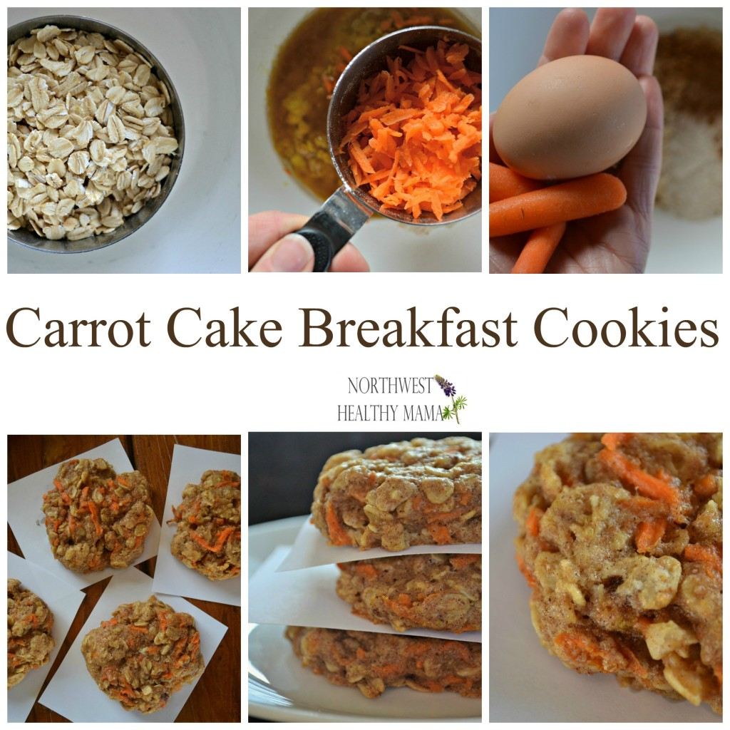 Carrot Cake Breakfast Cookies-Yum!