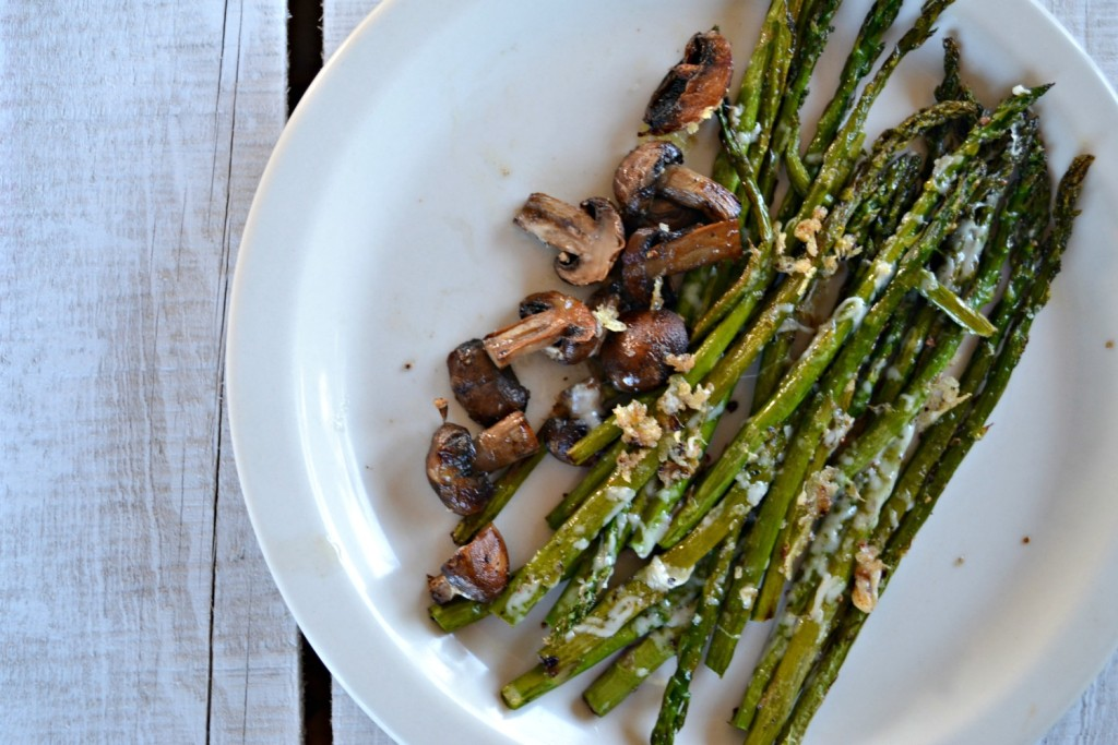 Parmesan Roasted Asparagus and Mushrooms3