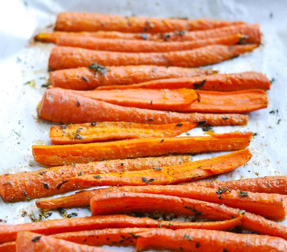 roasted-thyme-carrots-cooked