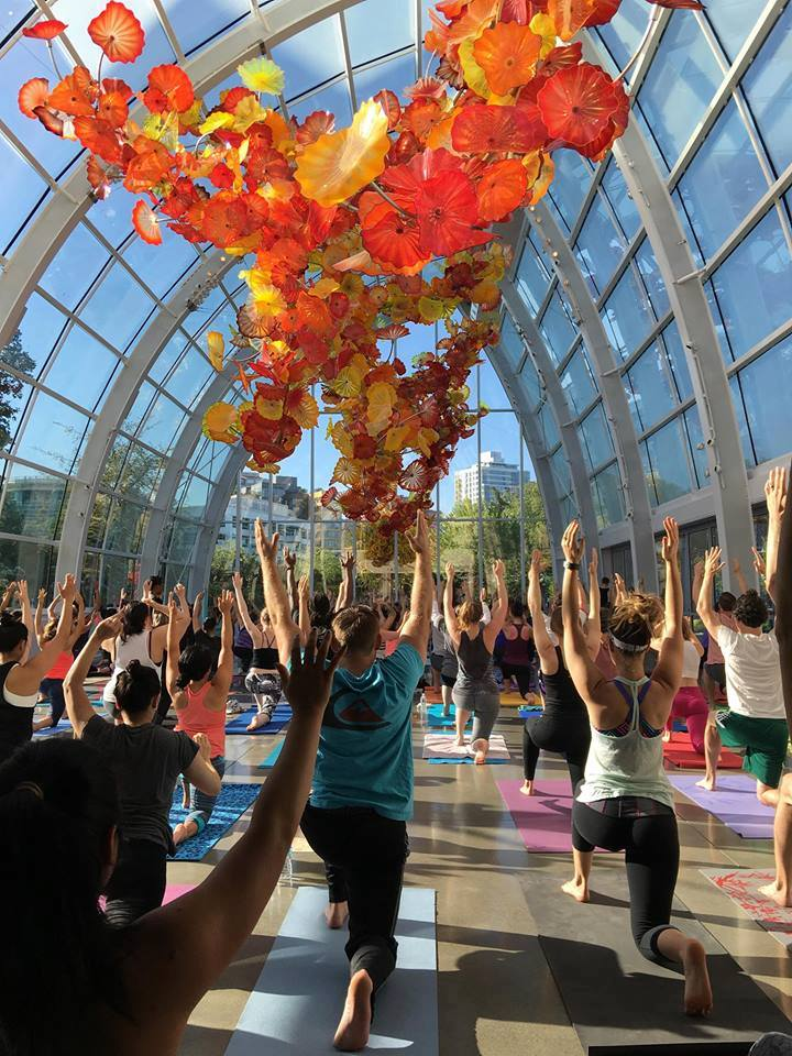 yoga under the glass