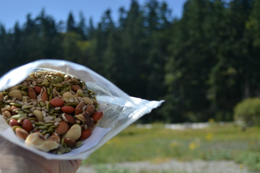 "Beach Snacks ""Summit Seeker"" trail mix. The kids didn't know they like Pumpkin Seeds until today!"